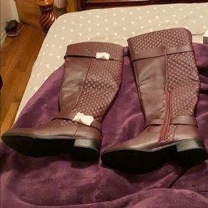Keswick quilted buckle riding boots